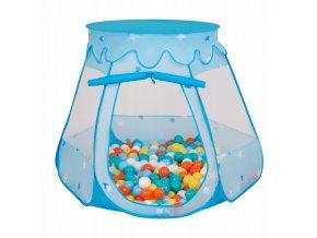 Suchý bazén stan zámek modrý s míčky barevné 2 100 ks
