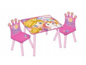 Dětský stůl s židlemi PRINCESS 04