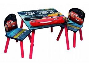 Dětský stůl s židlemi CARS AUTA 02