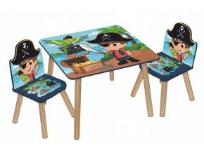 Dětský stůl s židlemi PIRÁTI