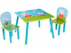 Dětský stůl s židlemi PEPPA PIG