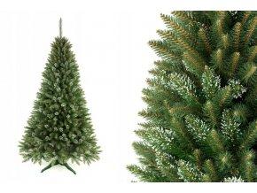 Umělá vánoční stromek - Kavkazský smrk s bílými konečky 120 cm