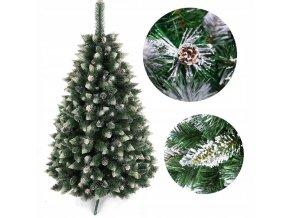 Umělá vánoční borovice s šiškami - diamant 90 cm