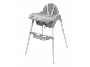 Jídelní židlička BASIC Šedá