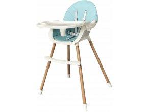 Jídelní židlička OMNA 2v1 modrá