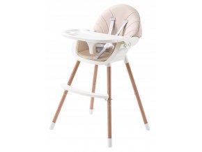Jídelní židlička OMNA 2v1 béžová