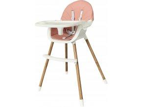 Jídelní židlička OMNA 2v1 růžová