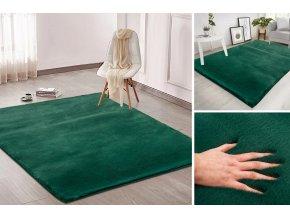 Kusový koberec RABBIT - Zelený - imitace králičí kožešiny