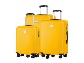 Cestovní Kufr PANAMA - Žlutý