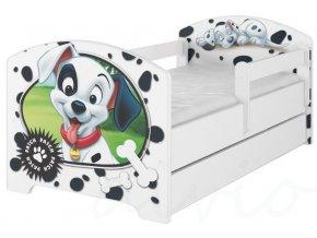 Dětská postel disney 101 dalmatinů x bílá 180x80cm