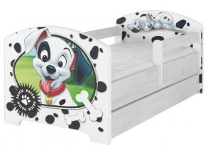 Dětská postel disney 101 dalmatinů x norské borovice 180x80cm