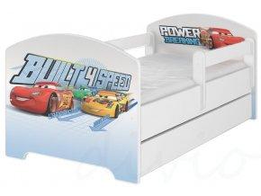 Dětská postel disney auta x bílá 180x80cm