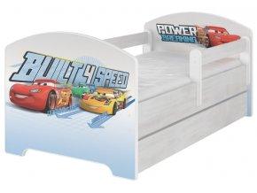 Dětská postel disney auta x norské borovice 180x80cm