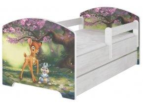 Dětská postel disney bambi natural x norské borovice 180x80cm