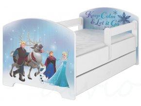 Dětská postel disney frozen x bílá 180x80cm