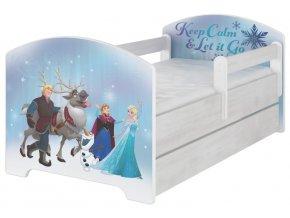 Dětská postel disney frozen x norské borovice 180x80cm