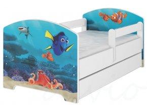 Dětská postel disney hledá se dory x bílá 180x80cm