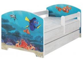 Dětská postel disney hledá se dory x norské borovice 180x80cm