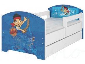Dětská postel disney jake a piráti x bílá 180x80cm