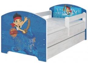 Dětská postel disney jake a piráti x norské borovice 180x80cm