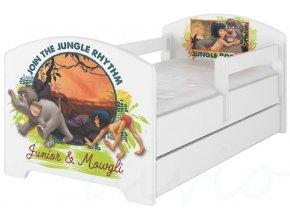 Dětská postel disney kniha džunglí bílá x 180x80cm
