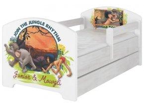Dětská postel disney kniha džunglí x norské borovice 180x80cm