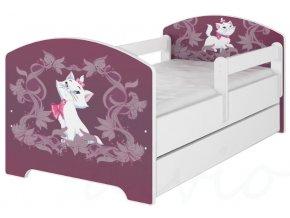 Dětská postel disney kočička marie x bílá 180x80cm