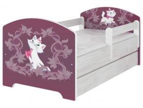 Dětská postel disney kočička marie x norské borovice 180x80cm