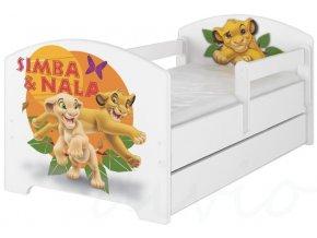 Dětská postel disney lví král x bílá 180x80cm