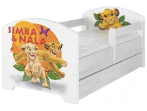 Dětská postel disney lví král x norské borovice 180x80cm