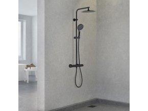 Sprchová souprava Taygete s termostatickou baterií černá