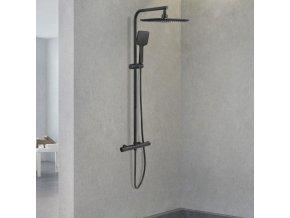 Sprchová souprava Isonoe s termostatickou baterií černá