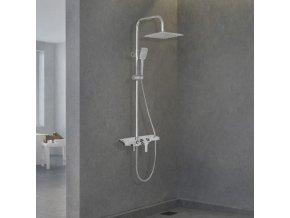 Sprchová souprava PUK s policí a výtokem do vany chromová