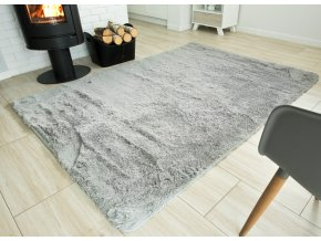 Plyšový koberec - Světle Šedý 2