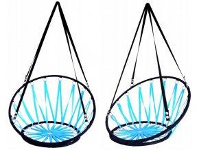Závěsné houpací křeslo BOHO 55x55cm - modré
