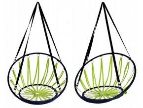 Závěsné houpací křeslo BOHO 55x55cm - zelené