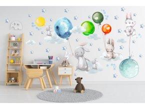 Samolepka balóny 134