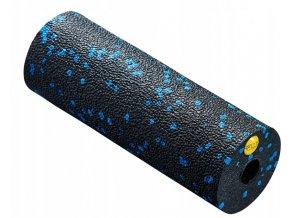 Masážní válec - 15 cm černá - modrá