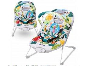 Lehátko – houpátko – židlička 3v1 pro děti od narození do 9 kg tropický