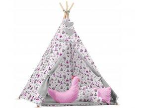 Dětský stan TEEPEE (TÝPÍ) hvězdičky + doplňky XL, vzor 783