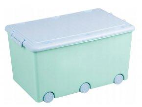 Dětská truhla - zelený/modrý