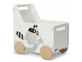 Organizér na hračky bílé vozidlo