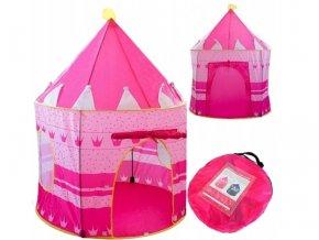Dětský stan - Královský růžový hrad