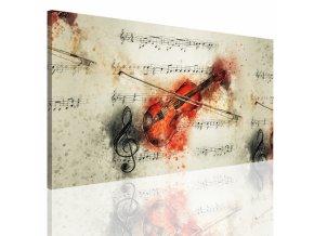 Obraz na plátně housle, vzor 12389