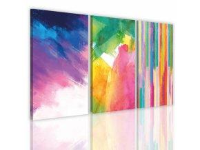 Třídílný obraz na plátně colorful, vzor 41121