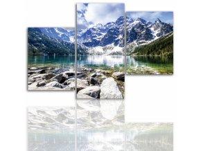 Třídílný obraz na plátně hory, vzor 12021
