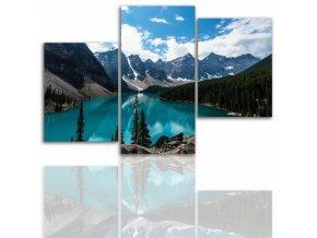 Třídílný obraz na plátně hory, vzor 12030