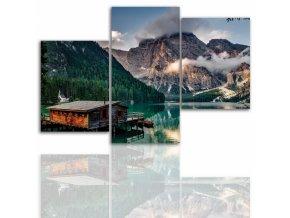 Třídílný obraz na plátně hory, vzor 12027