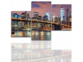 Třídílný obraz na plátně New York, vzor 12026