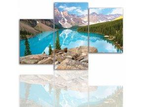 Třídílný obraz na plátně hory, vzor 12007